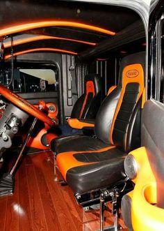 ideas semi truck interior custom big rigs for 2020 Show Trucks, Big Rig Trucks, Pickup Trucks, Ford Trucks, Custom Big Rigs, Custom Trucks, Truck Room, Automotive Upholstery, Little Blue Trucks