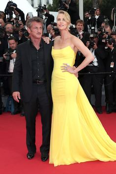 Cannes Film Festival 2015 | Charlize Theron, in Dior Couture, with Sean Penn