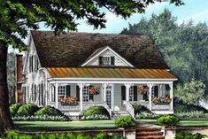 Farmhouse Traditional House Plan 86299