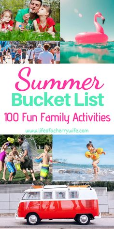 Summer Bucket List – 100 Fun Family Activities – Life of a Cherry Wife A creative and fun list to … Family Activities With Toddlers, Preschool Family, Activities For Adults, Summer Activities For Kids, Summer Kids, Preschool Activities, Family Games, Summer Fall, Things To Do At Home