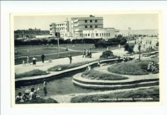 MORECAMBE, LANCASHIRE. (SIDE VIEW OF MIDLAND HOTEL) POSTED IN 1957