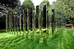 uk garden art, Wow so beautiful but I so wouldn't want to clean all those mirrors