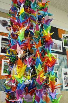 Ichabod Crane High School students create crane sculpture for fund raiser for Japanese disaster victims