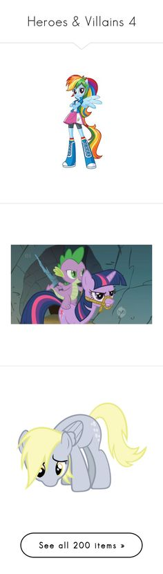 """""""Heroes & Villains 4"""" by xx-black-blade-xx ❤ liked on Polyvore featuring mlp, my little pony, animals, ponies, fillers, pictures, random, characters, ponys and backgrounds"""