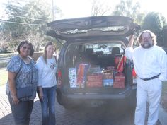 St. Thomas the Apostle Catholic Church of North Charleston donated #Christmas gifts for CYDC youth on December 16, 2015! From left to right: Gloria and Marisa of St Thomas the Apostle Church pose with CYDC Development Office Coordinator/IT Liaison Brian Hedden in front of the presents. #spiritofgiving