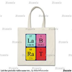 Amy periodic table name keyring single sided square acrylic key lab rat periodic table name tote bag urtaz Gallery