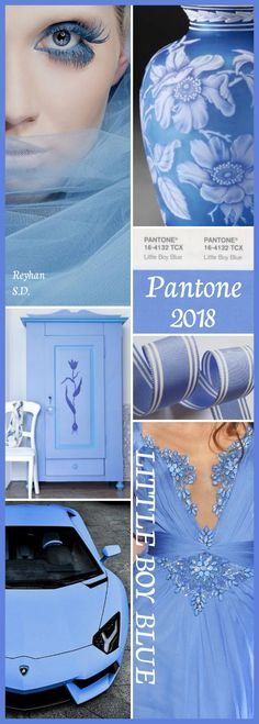'' Pantone 2018- Little Boy Blue '' by Reyhan S.D.