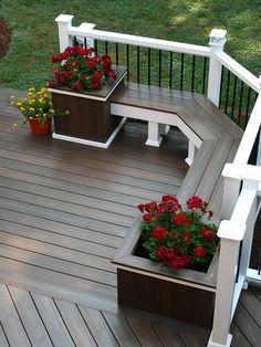 A Patio Deck Design will add beauty to your home. Creating a patio deck design is an investment that will […] Backyard Patio Designs, Backyard Landscaping, Patio Ideas, Cozy Backyard, Garden Ideas, Back Deck Ideas, Landscaping Design, Desert Backyard, Ponds Backyard