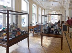 would you believe that these beautiful vitrines were used in a museum? Beautiful Buildings, Vienna, Palace, Museum, Bohemian, Mirror, Interior Design, Architecture, Vintage