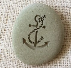 ANCHOR Home Decor Paperweight engraved stone by by sjengraving, $20.00