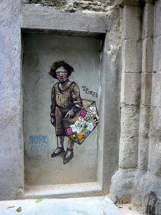 Borondo #StreetArt #mural #graffiti