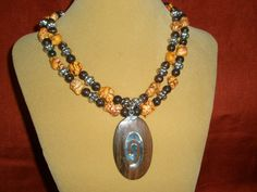 Items similar to Statement Necklace with Unique Wood pendant with sterling silver and orange magnesite,Fall Necklace, Rustic Wedding, Resort Jewelry, Rodeo on Etsy Rustic Wedding Jewelry, Silver Beads, Fall Wedding, Antique Silver, Handmade Jewelry, Jewelry Design, Sterling Silver, Stone, Big