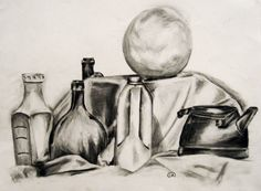 charcoal drawings showing volume - Google Search
