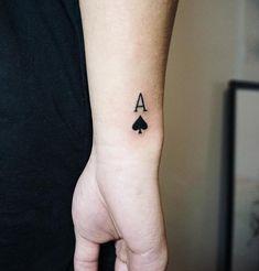 Card Tattoo Designs, Unique Tattoo Designs, Tattoo Sleeve Designs, Sleeve Tattoos, Tattoo Ideas, Hand Tattoos For Guys, Small Tattoos For Guys, Cool Small Tattoos, Cool Guy Tattoos