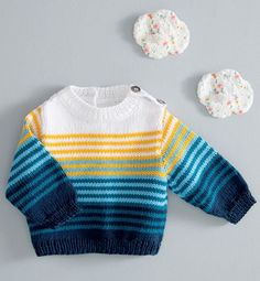 This Pin was discovered by Chr Baby Cardigan Knitting Pattern Free, Baby Boy Knitting Patterns, Baby Sweater Patterns, Sweater Knitting Patterns, Knitting For Kids, Knitting Designs, Baby Boy Sweater, Knitted Baby Clothes, Hand Knitted Sweaters