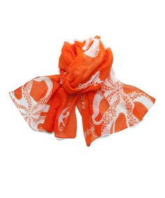 Take a look at this Orange Surfside Scarf by Lindsay Phillips on #zulily today!