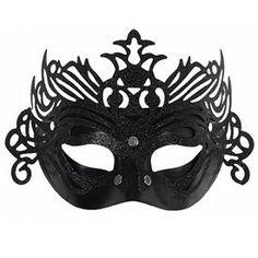 e5b80fb295d69 Máscara Negra decorada Purpurina Una máscara con la que serás la reine de  tu baile .