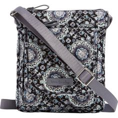 ece2e30f3a Vera Bradley - Iconic RFID Mini Hipster - Charcoal Medallion Hipster Shop,  Beautiful Bags,
