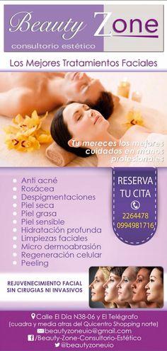 Las mejores terapias faciales y corporales especialmente para ti. Reserva tu cita  593 02 2264478 Quito - Ecuador