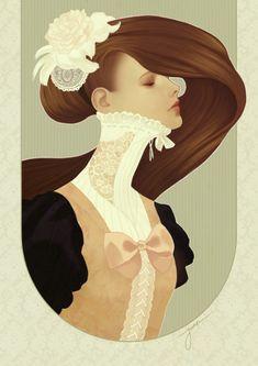 'Lace' by Odile Van Der Stap - Illustration from Netherlands  http://jumei.deviantart.com