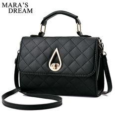e1779efcc0 Mara s Dream 2018 Diamond Lattice Women Messenger Bags Brand Designer PU  Leather Handbag Shoulder Bag Plaid Women Crossbody Bag