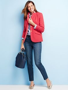 Talbots - Aberdeen Knit Blazer |  |  Discover your new look at Talbots. Shop our Aberdeen Knit Blazer for stylish clothing and accessories with a modern twist at Talbots
