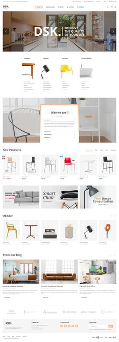 Buy DSK - Furniture PSD Template by snstheme on ThemeForest. DSK is a ecommerce web template, suitable for open source. DSK has 3 layouthome pages, 17 innerpage: product list, pr. Apartment Furniture Layout, Luxury Bedroom Furniture, Cheap Furniture, Furniture Plans, Furniture Websites, Kitchen Furniture, Mirror Furniture, Gothic Furniture, Porch Furniture