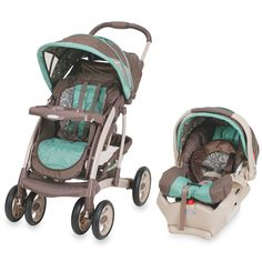 Graco Alano Travel System Pink And Brown