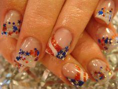 Awesome Patriotic Nail Art