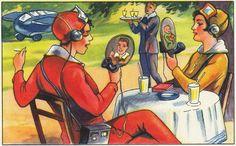 Future communication by Sammelalben - Zukunftsfantasien, ca. 1930