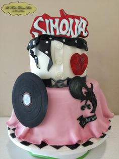 "Grease themed cake by Adelina - ""Le Torte DecorArte"""