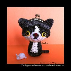 Cat clip purse and a mouse by ~ginnieair on deviantART