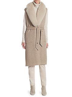 Loro Piana Ashford Fox Fur & Cashmere Vest