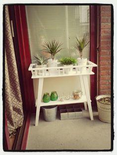 Ikea plant stand on my balcony
