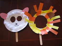 in like a lion, out like a lamb- did these for Church Preschool group, two different lessons. one about Daniel and the Lions Den, the other The Lost Sheep Parable. kids LOVED it and we used or masks to act out the stories. made it even better :) March Crafts, Spring Crafts, Craft Activities, Preschool Crafts, Speech Activities, Preschool Ideas, Cute Crafts, Easy Crafts, Art For Kids