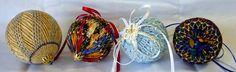 Милые сердцу штучки: Новогодние шары в технике smocking + великолепный МК от Pinwheel Ponders
