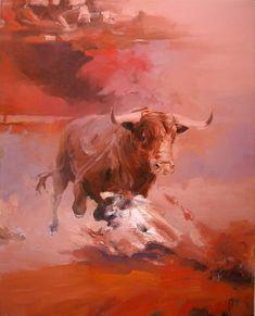 """Saatchi Art Artist Zil Hoque; Painting, """"Corrida II"""" #art"""