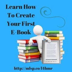 Would you like to learn how to create your first E-Book? This training will show you how  http://mlsp.co/l4hmr