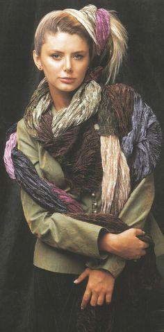 Aker Eşarp / Scarf - 2003-4 F/W #aker #scarf #esarp #hijab #fashion #silk #scarves #paris #moda #vogue #tesettur #model #mode #style #pattern #babushka #kerchief #shawl #wrapper #trend #aker #akeresarp #akerscarf