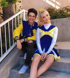 Omg I LOVE our new school uniform dont me and bae look so cute in this Hes the quarter back aka star of the football team Love him loveofmylife cute boyfriend hubby globalwarmingisntamyth Riverdale Halloween Costumes, Cute Couple Halloween Costumes, Halloween Kostüm, Halloween Outfits, Loren Grau, Gray Instagram, Cheerleading Outfits, Halloween Disfraces, Family Outfits