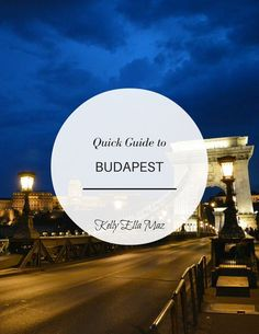 Quick Guide to Budapest Cover