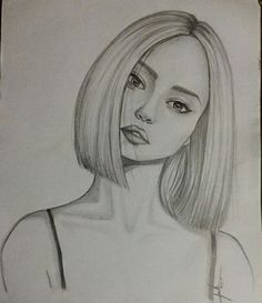 Girly Drawings, Anime Drawings Sketches, Art Drawings Sketches Simple, Pencil Art Drawings, Sketches Of Girls Faces, Beautiful Sketches, Art Drawings Beautiful, Cute Girl Sketch, Aesthetic Drawing