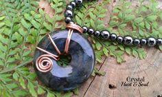 Labradorite and Hematite necklace  http://CrystalHartandSoul.etsy.com