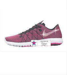 1c4c837ec0527 Custom Rhinestone Women LEX FURY 2 DARK GREY PINK. Rhinestone ShoesBling  ShoesGlitter NikesFitness ...