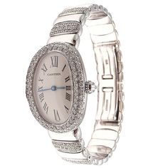 CARTIER White Gold and Diamond Baignoire Lady's Wristwatch at 1stdibs