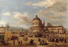 Carlo Canella (1800-1879) - La sagra a San Michele, Verona