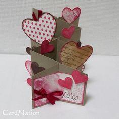 Valentine cascade card - could make it wedding