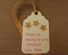 Twinkle Twinkle Little Star 1st Birthday party favor tags Pink Gold Party Decor use on your favor bags or boxes