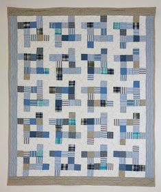 Image result for quilt made from men's dress shirts