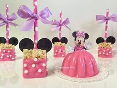 Going to do mickey ears, using pi k food dye, and then mini marshmellows Minnie Mouse Theme Party, Mickey Mouse Clubhouse Birthday, Minnie Mouse Cake, Minnie Birthday, Mouse Parties, Mickey E Minie, Mickey Ears, Red Birthday Party, 2nd Birthday